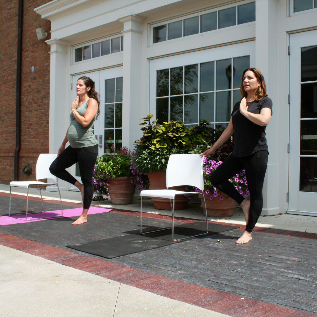 Outdoor Chair Yoga